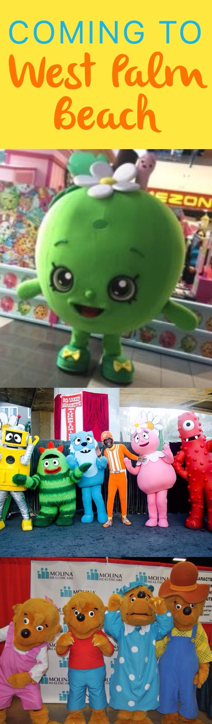 Shopkins will send Apple Blossom and Kooky Cookie to Our Kids World, a two-day, indoor festival happening on August 27th and 28th from 10:00 a.m. to 5:00 p.m at The South Florida Fairgrounds Expo Center.