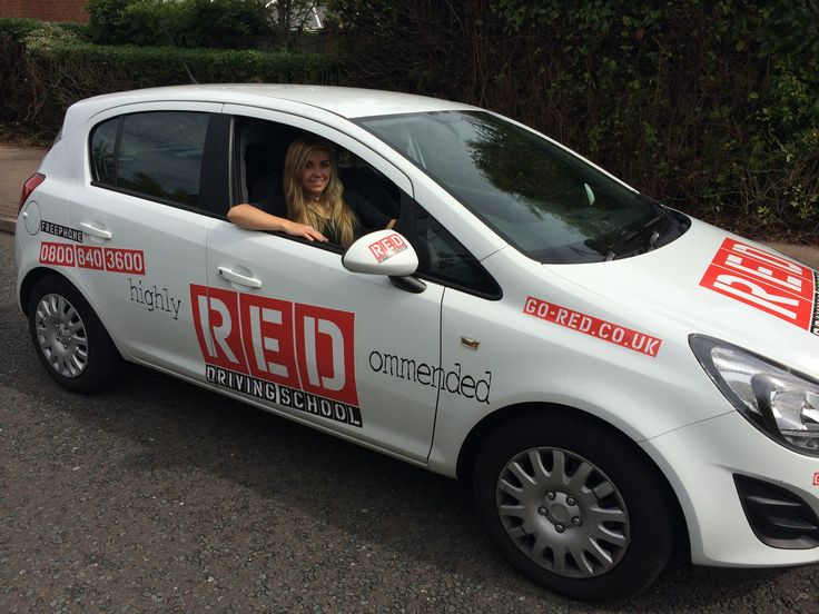 Amber Hill, Britain's shotgun star, learning to drive with #REDDrivingSchool