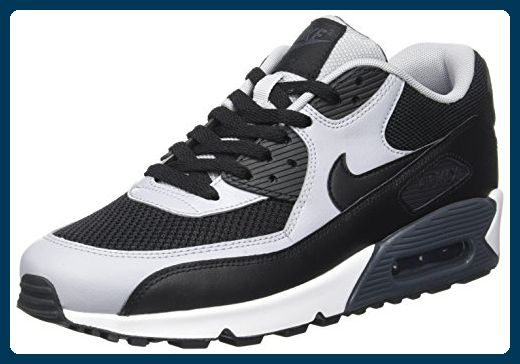 Nike Schuhe Air Max 90 Essential Herren black-black-wolf grey-anthracite-white (537384-053), 45,5, schwarz - Sneakers für frauen (*Partner-Link)