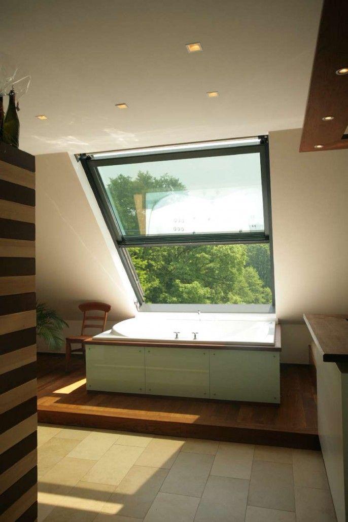 Badewonnen genießen mit Blick ins Grüne Haus Pinterest - dachgeschoss ausbauen tolle idee wie sie den platz nutzen konnen