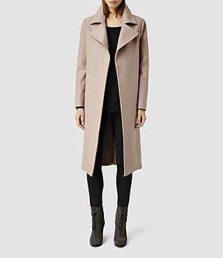 Womens Iya Coat (Taupe) - product_image_alt_text_1