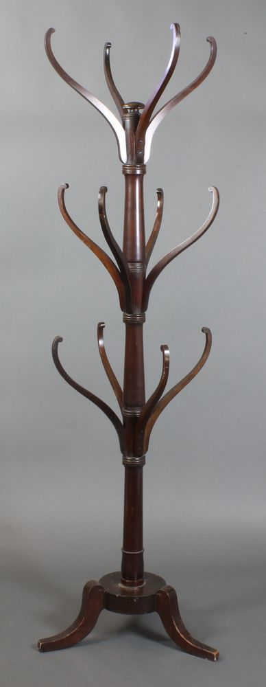 LOT 882, A 19th Century turned mahogany coat stand SOLD £280
