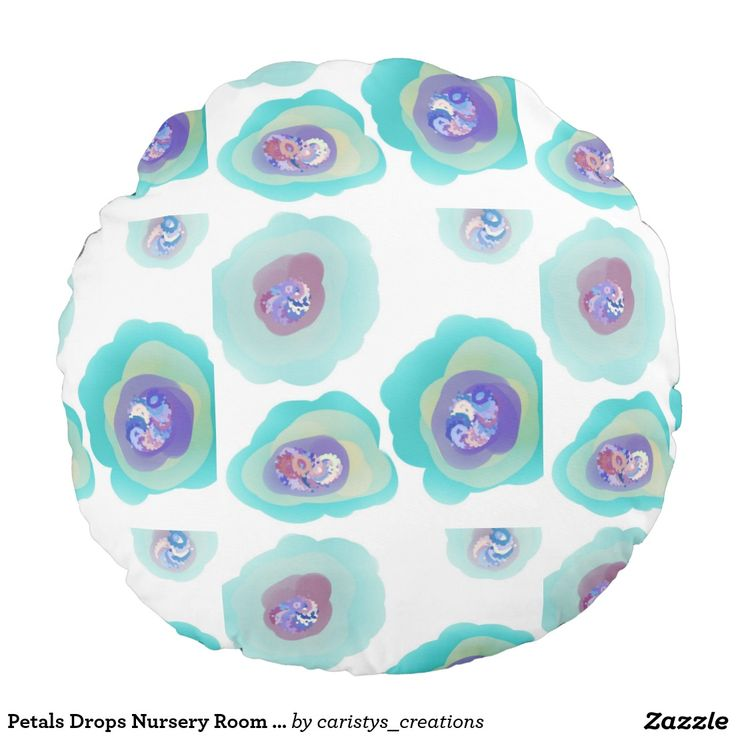 Petals Drops Nursery Room Pillow