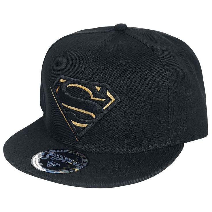 Cappellino nero con visiera di #Superman.