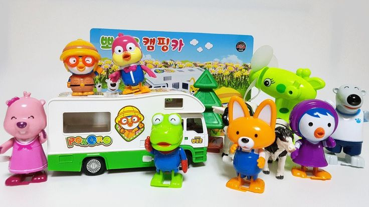 Pororo Campling Car and Cooking Toy Play