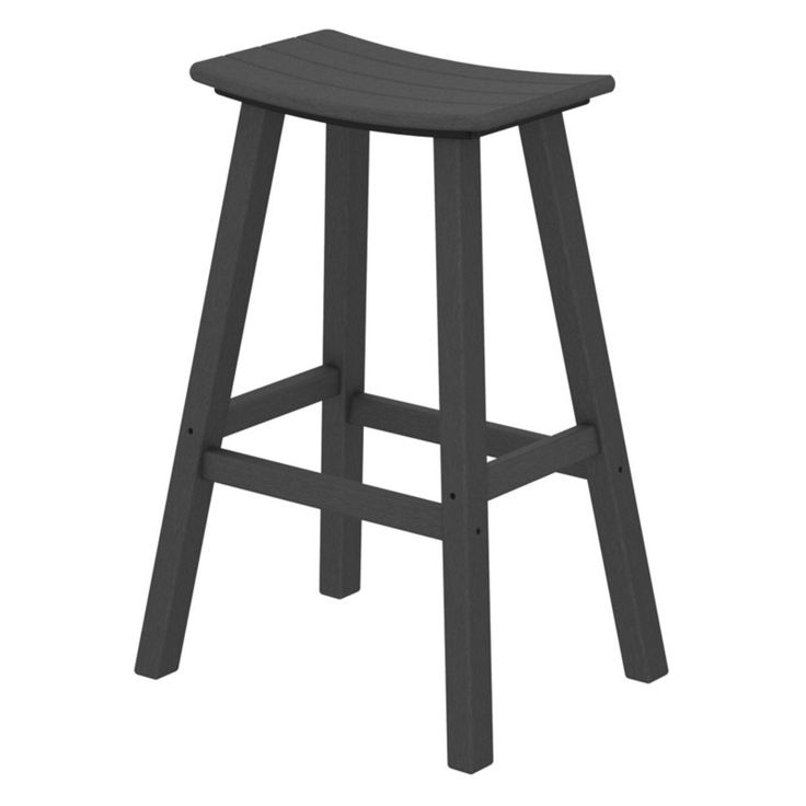 Outdoor POLYWOOD® Traditional 30 in. Saddle Bar Stool - 2002-BL