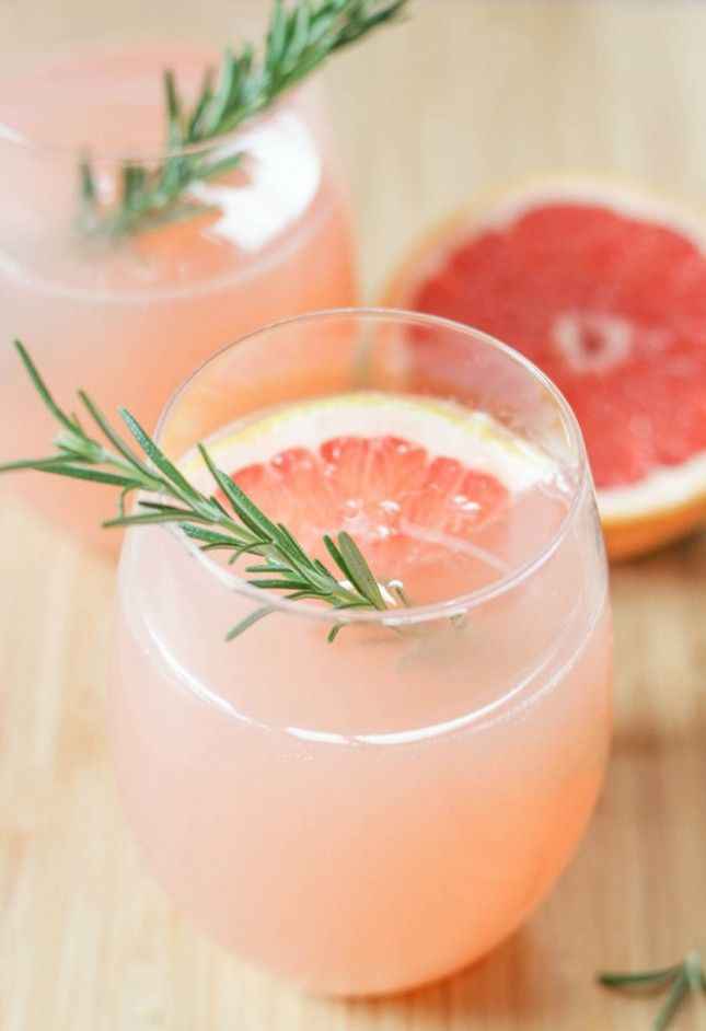 Shake up a Grapefruit + Rosemary Mocktail using this drink recipe.