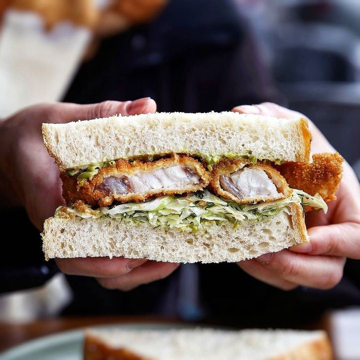 Sometimes you just want something simple for lunch// Fish finger butty with market fish crushed pea aioli dill and cabbage salad @saintjamescafe