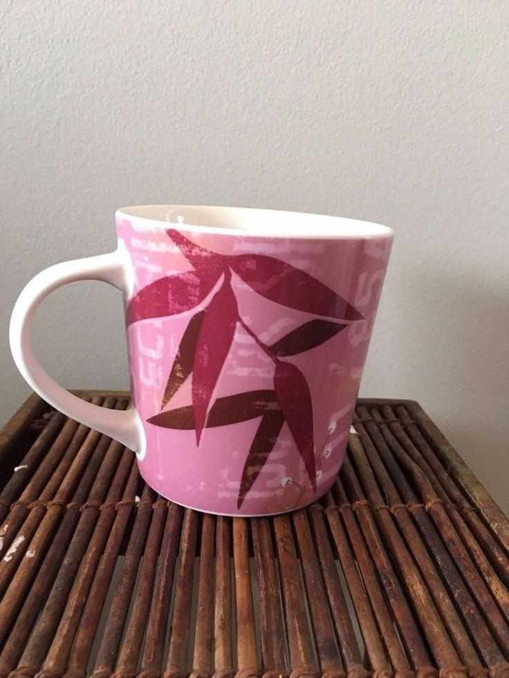 Starbucks Coffee 2006 Product Of Guatemala Drinking Mug Pink Purple Floral #StarbucksCoffee