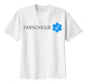 T-shirt koszulka FARNOHOLIK VERIFIED napis nadruk fandoms fan print młodzieżowa fajna bluzka