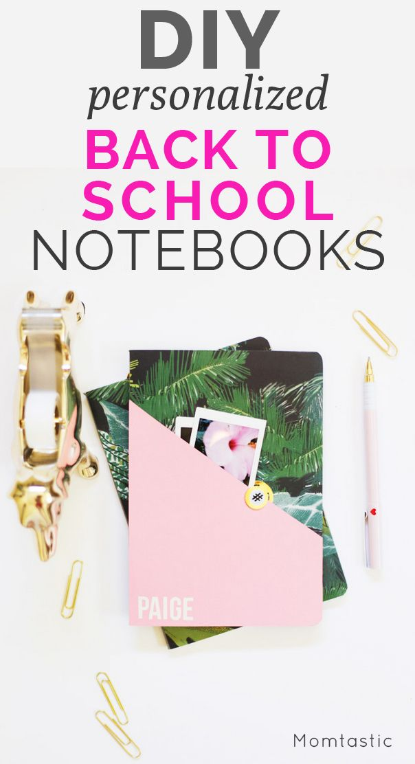 DIY personalized back to school notebooks