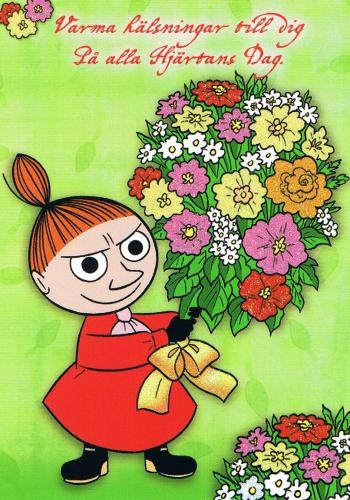 """Moomin, it's a Valentine card sent to me through Postcrossing by an older man above 60. We both thought it was a hilarious """"joke""""."""
