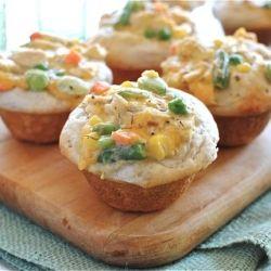 Chicken Pot Pie Cupcakes.Dinner, Fun Recipe, Chicken Pot Pies, Food, Muffins Tins, Savory Recipe, Chicken Pots Pies, Cupcakes Rosa-Choqu, Pots Pies Cupcakes