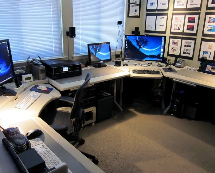 geeks home office workspace. stewart altschuleru0027s impressive home office geeks workspace f
