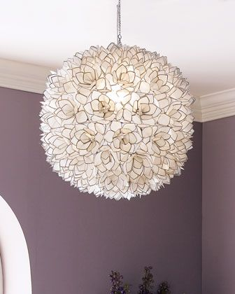 Capiz-Shell Pendant Light at Horchow. In the right space- fabulous.