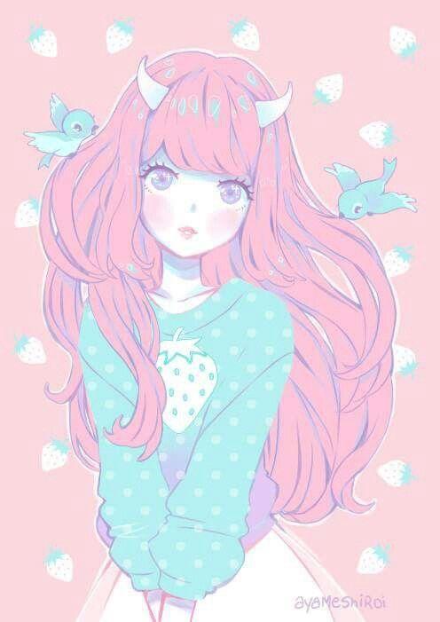 anime kawaii pastel: Pin De Mickyhorror En Anime Emo Scene Pastel Goth Loli
