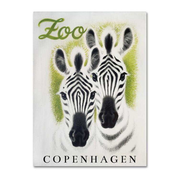Vintage Apple Collection 'Copenhagen Zoo' Canvas Art