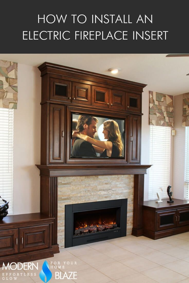 How To Install An Electric Fireplace Insert In 2019 Installation