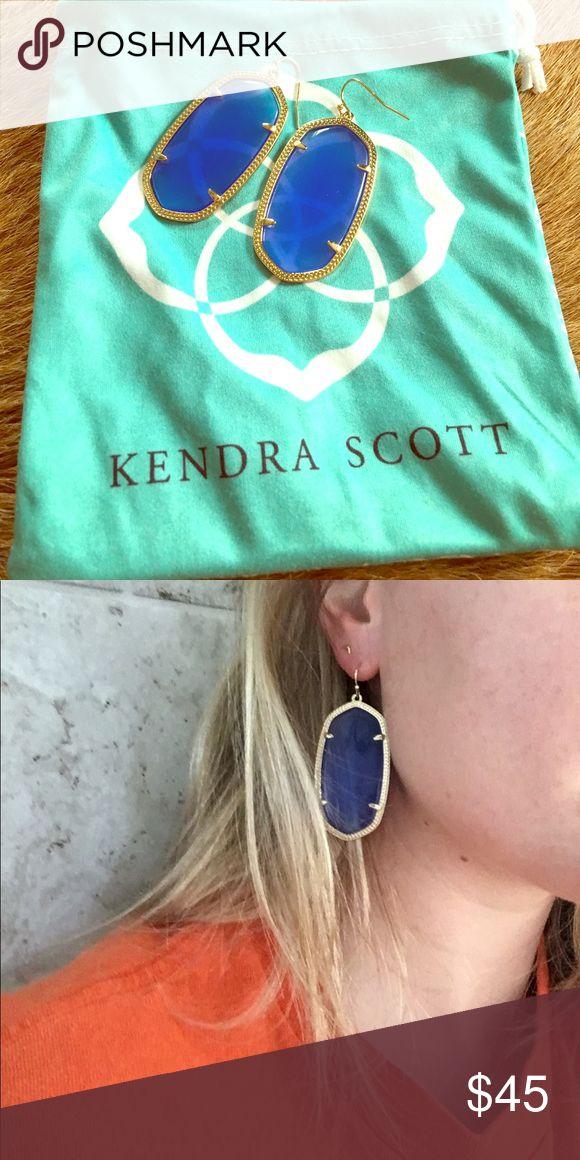 Kendra Scott Danielle Earrings Kendra Scott Danielle earrings in translucent blue/purple. Worn only once - great condition, like new! Kendra Scott Jewelry Earrings