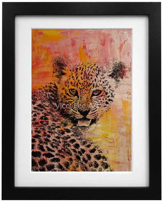 £14.50 Cheetah in Orange by Vicci Lee