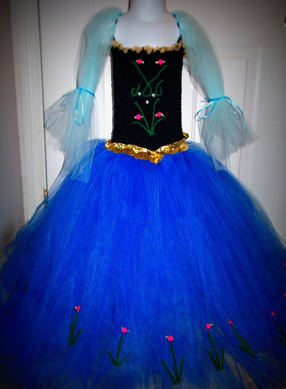 Anna from Frozen inspired tutu dress by GlitterprincessGalor, $30.00
