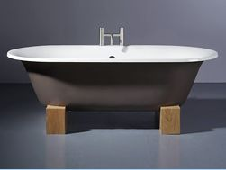 Our favorite all-time tub is from Aston Matthews: the Tivoli cast-iron bath on white oak sleepers; £1,173.83 at astonmatthews.co.uk. The company ships all