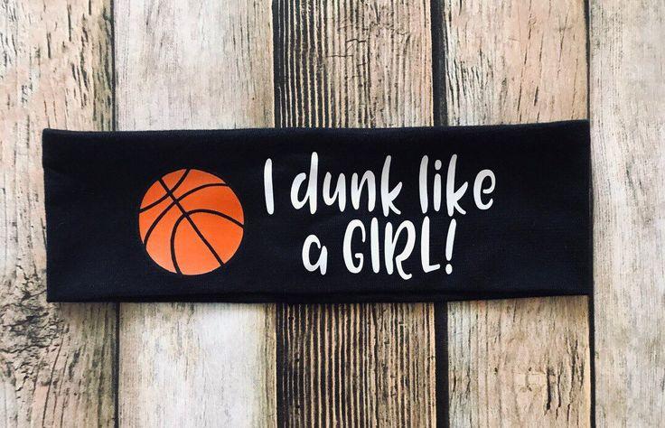 Ich tauche ein wie ein Mädchen Stirnband | Basketball Stirnband | Sport Stirnband | Basketball | Mädchen Stirnbänder | Frauenpower   – Cricut