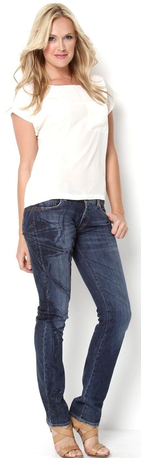 Versace Jeans Couture Jewel Accented Jeans ♥✤ | Keep the Glamour | BeStayBeautiful