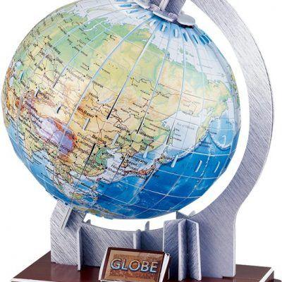 maquette puzzle globe terrestre 3D