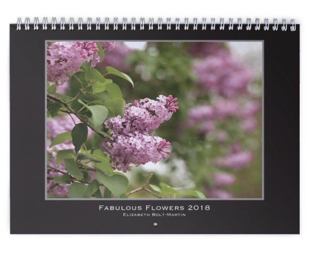 Fabulous Flowers 2018 Wall Calendar