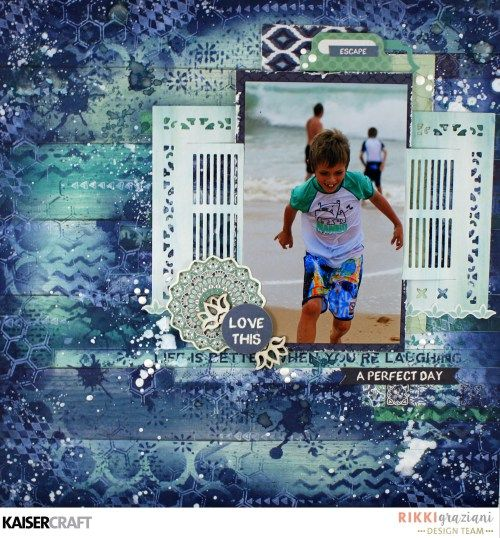 'A Perfect Day' layout by Rikki Graziani Design team member for Kaisercraft Official Blog featuring their 'Delicious Decorative Dies' and 'Ubud Dreams' collection.. (January 2017) Learn more at kaisercraft.com.au/blog - Wendy Schultz - Scrapbook Layouts.