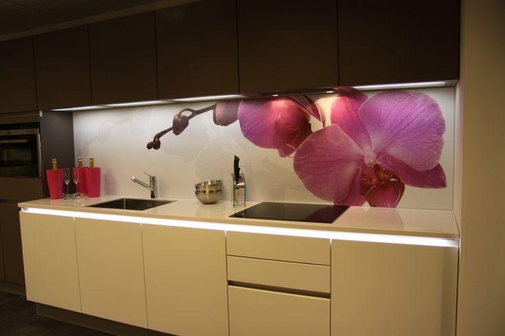 Visualls keukenachterwand foto orchidee Premium - Startpagina voor keuken ideeën | UW-keuken.nl
