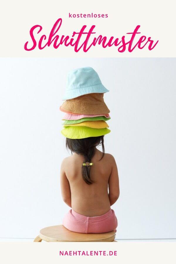 Einfacher Sonnenhut für Kinder zum selber nähen. Größe von 6 Monaten bis 8 Jahre. Toller Schnitt für alle Bauwoll-Webwaren. Schnittmuster Freebook - DIY - selber nähen ✂ Nähtalente.de - Nähtalente - Das Magazin für Hobbyschneider/innen mit Schnittmuster-Datenbank #nähenfürkinder #babykleidung #baby #nähen #nähenmachtglücklich #nähenfürbabies #naehen #schnittmuster #handmade #diy #freebook #nähenistwiezaubernkönnen via @Naehtalente