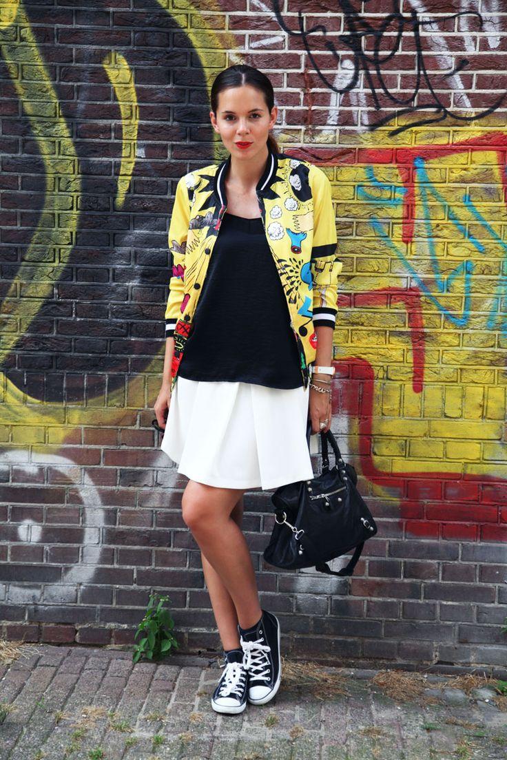 Varsity jacket street art per il mio primo giorno ad Amsterdam
