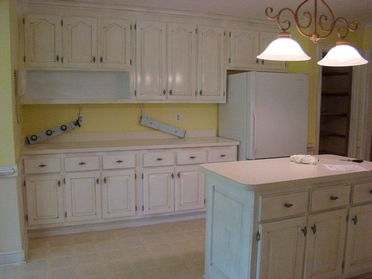 Whitewash knotty pine custom kitchen cabinet design for Refinishing old kitchen cabinets