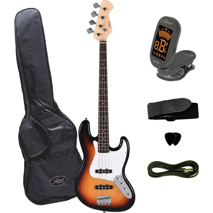 Artist Electric Bass Guitar Kit in Sun Burst JB2SB | Buy Bass Guitars