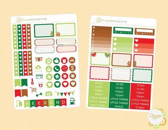 Gingerbread Mini Kit Gingerbread Weekly Kit Happy Planner