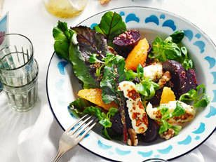 Beetroot, Orange and Haloumi Salad