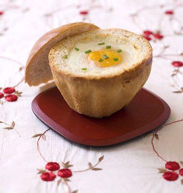 Oeuf cocotte en brioche - les meilleures recettes de cuisine d'Ôdélices