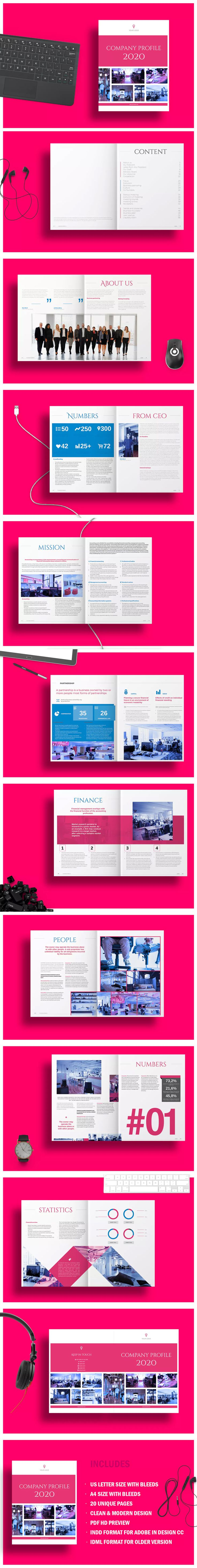 Company Profile 2020 Template InDesign INDD - A4
