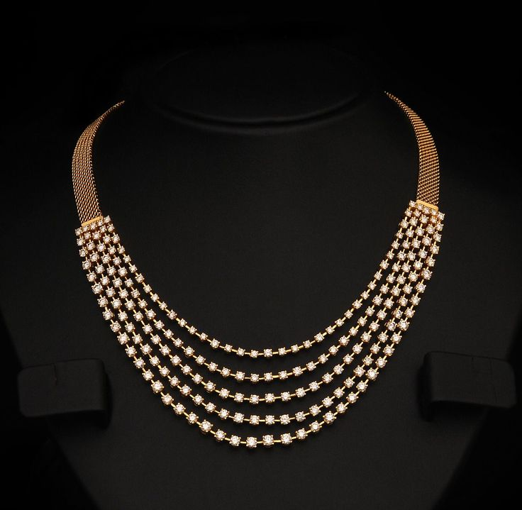 Gold and Diamond jewellery designs: Indian Diamond Bridal Necklace Sets from vummidi