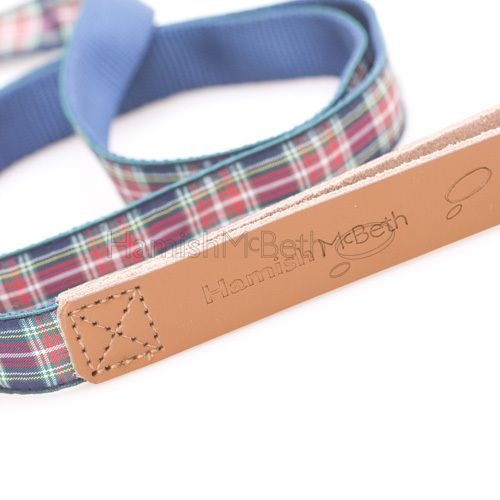 Any dog owner knows that leads must be soft. This affordable, luxrury Basix blue tartan lead delivers softness where it counts - around the handle grip area - with genuine soft leather, but a classic tartan design that is perfectly complemented by the matching Basix tartan collar. #doglead #dogleash #lead #leash