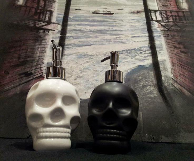Skull Hand Soap Dispenser   www.Kimprints.com