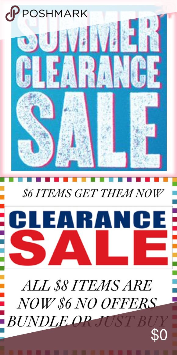 🔆SUMMER CLEARANCE SALE GET IT NOW B4 ITS GONE🔆 🔆🔆 SUMMER CLEARANCE SALE ALL $8 ITEMS ARE $6... If Price isn't changed offer me $6 I'll accept. 🆑 $8 ITEMS ONLY 4 $6.🆑 ITEMS R SMOKE FREE & PET FREE IN EUC, GUC, OR USED. Ask any questions b4 buying I'll answer as soon as I can. If buying Just 4 fun I'll throw in 1 free $6 item of your choice. Mailing happens same day or next day depending on day of week & my work schedule. I will let you know once I have dropped off at post office.THNKS 4…