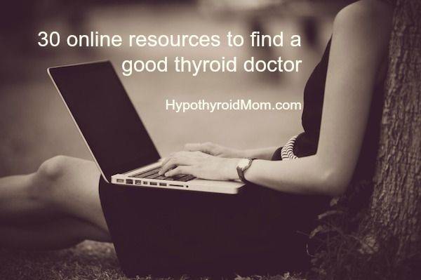 30 online resources to find a good thyroid doctor