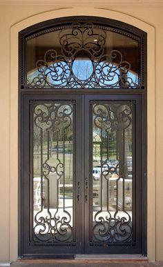 Foto de Vidro simples e moderno do ferro da venda por atacado do estilo da porta interior do ferro feito em pt.Made-in-China.com