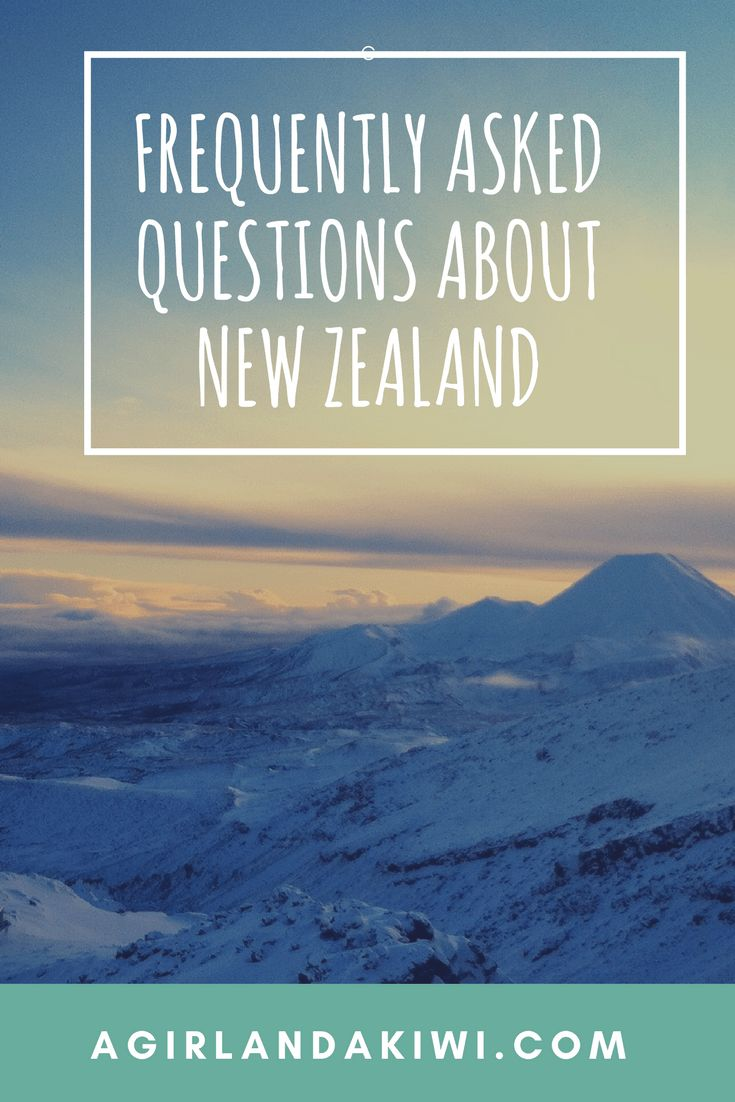 A Girl and a Kiwi - Frequently asked questions about New Zealand