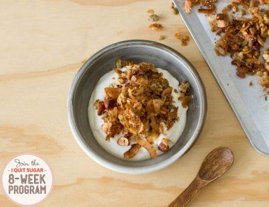 Mmmmm sugar free granola. I love this for breakfast and for a little crunchy snack in between meals. It's so full of flavour.