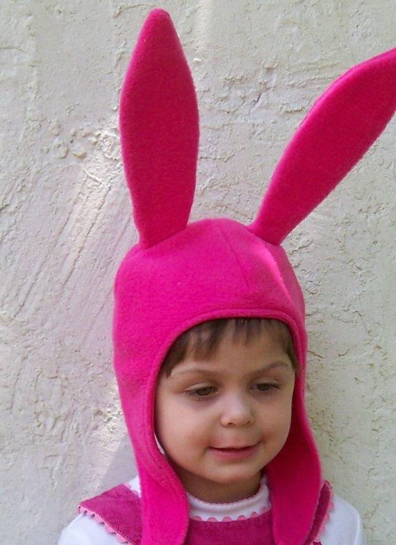 Louise Belcher Pink Bunny Ears Hat by EpicCostumes on Etsy