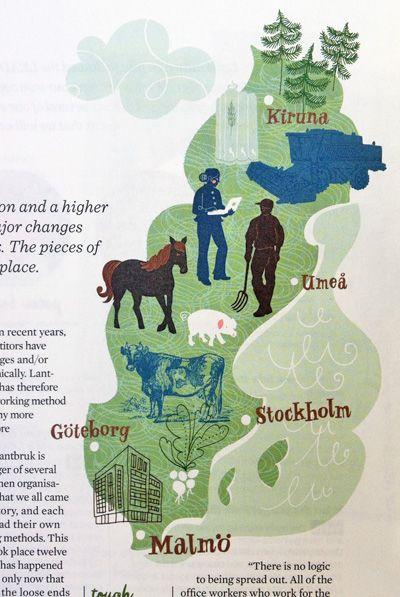 Best Maps Images On Pinterest Map Illustrations Illustrated - Sweden map ystad